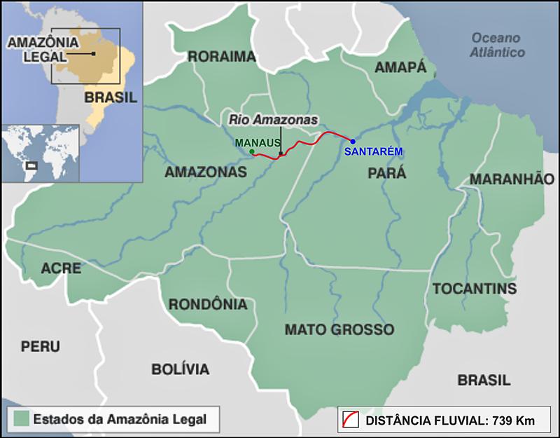 Balsa Santarem Manaus – Transporte Fluvial de Carga em balsa